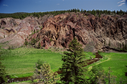 #3: Deadman river and rock formations