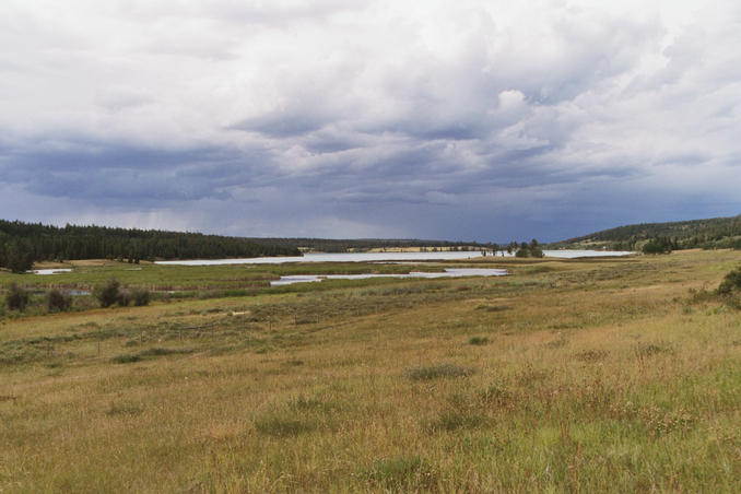 Felker Lake, with rain clouds approaching