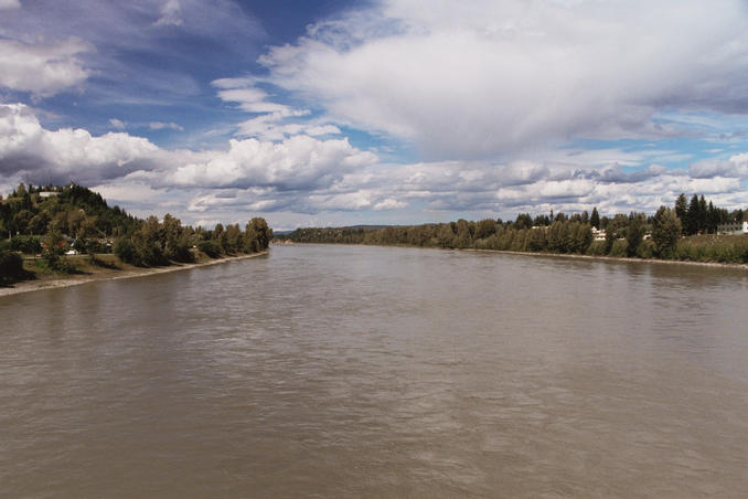 Fraser River, from footbrige in Quesnel