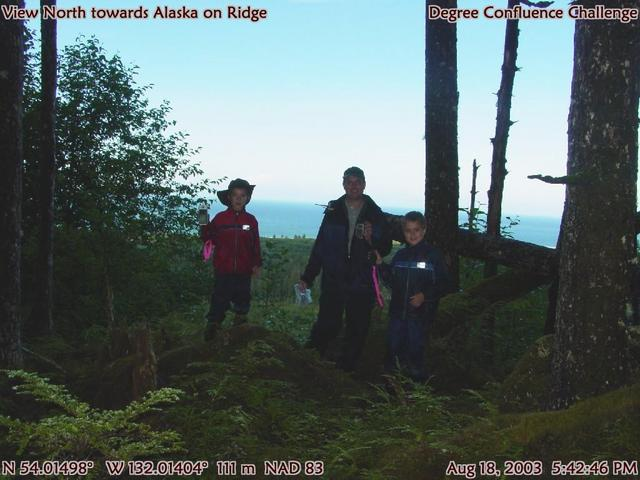 Top of ridge with Alaska to our backs (Alaska to north)
