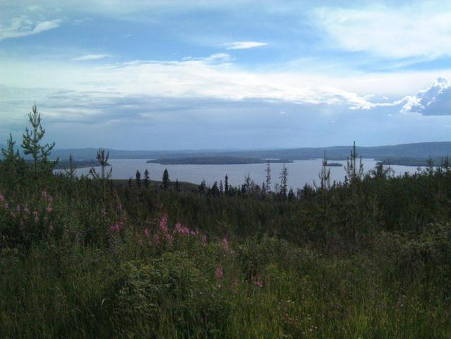 Looking at Granisle from the East side of Babine lake.