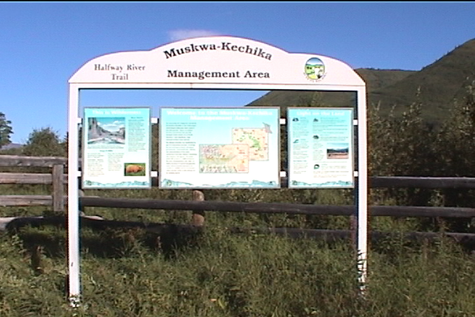 Mushwa-Kechika Management Area sign