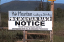 #3: Pink Mountain Ranch sign