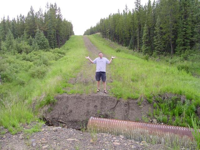 Tyler, hopelessly standing on the other side of the washout