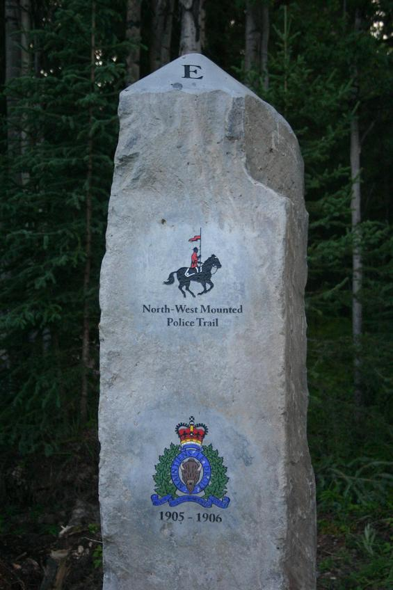North-West Mounted Police Trail marker