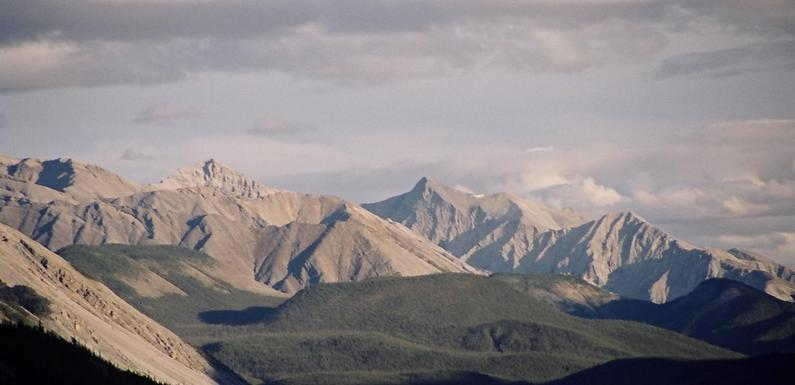 North of Muncho Lake, looking south, Sentinal Range