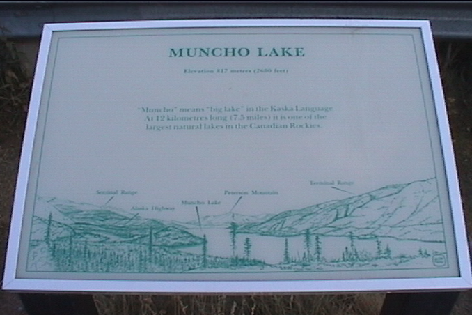 Muncho Lake Viewpoint sign