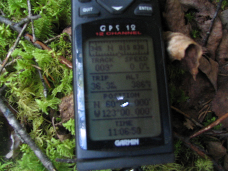 GPS at confluence site.