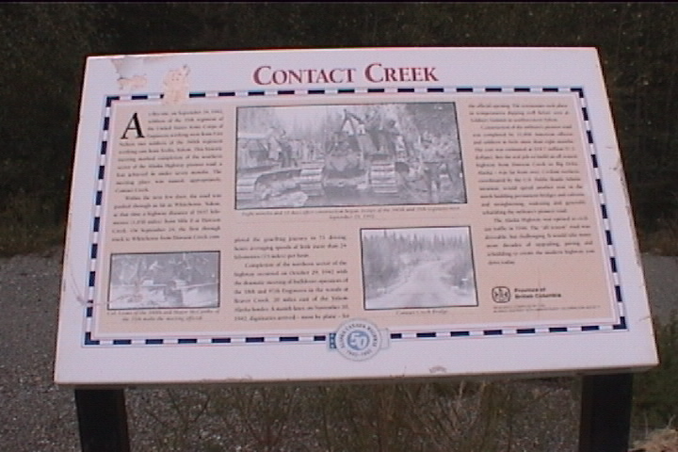 Contact Creek sign