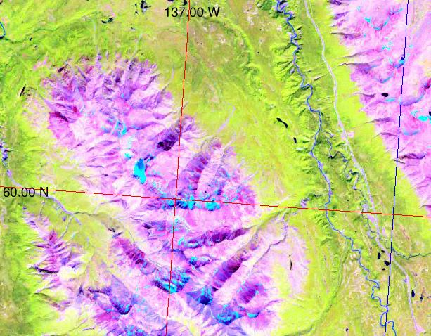 Landsat image of Squaw Range (north is up)