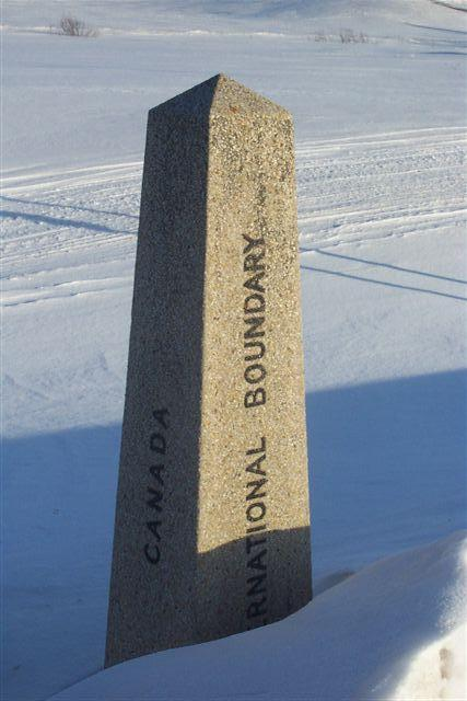 Boundary Marker on US - Canada Border near confluence