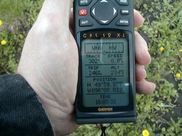 picture of GPS display