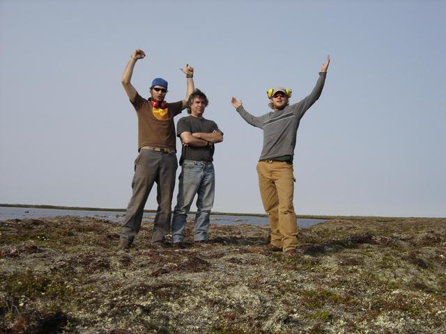 Left to Right: Dominic, Harold and Graham on the degree confluence.