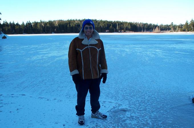 a frozen lake