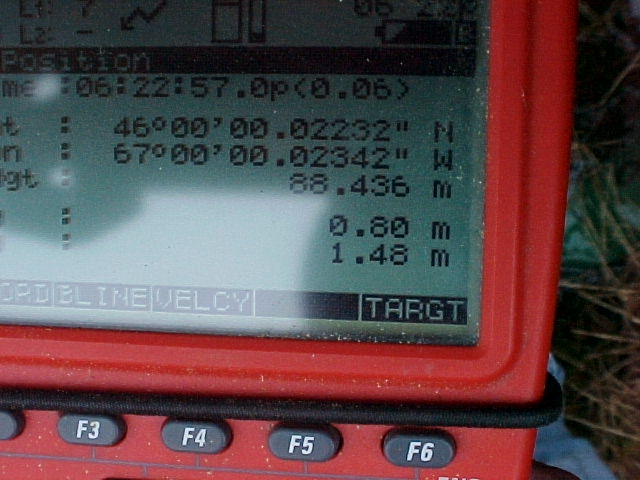 GPS reading. 0.02 seconds off!