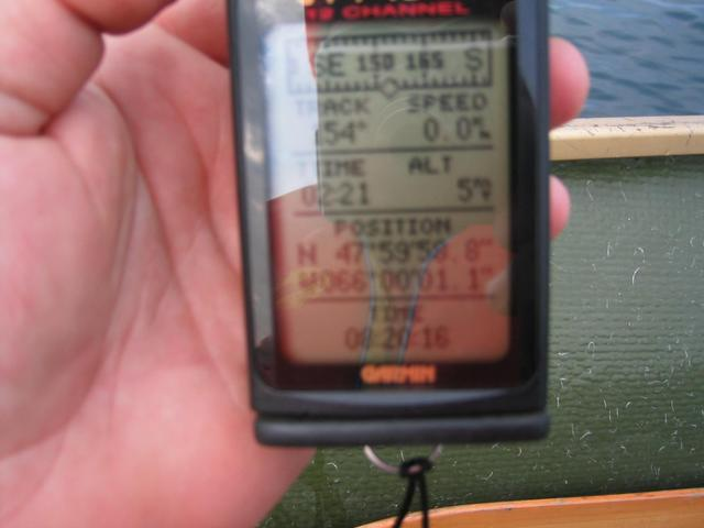 GPS reading at confluence