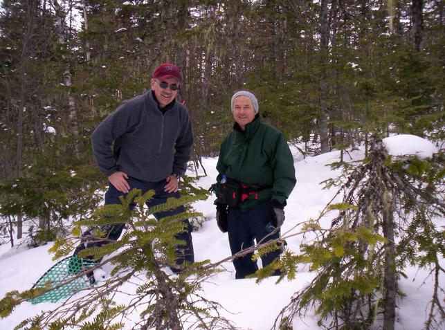 Bill and Ed at the site