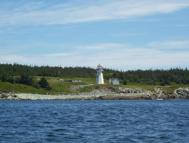 The Liscomb Island Lighthouse, about 3.0 km east-southeast of the confluence