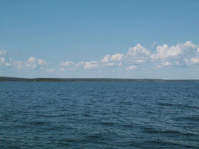 View towards Francois Bay, right on the confluence looking North
