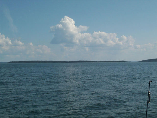 Easterly towards Blanchette island