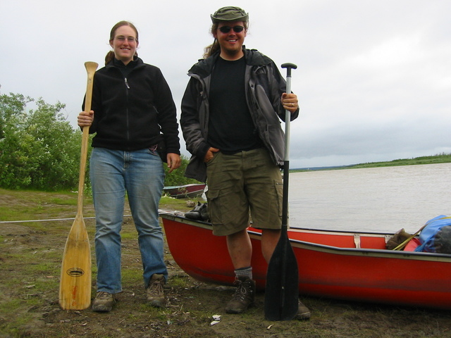 The two of us at Inuvik the next day, having completed 1500 kilometers of paddling