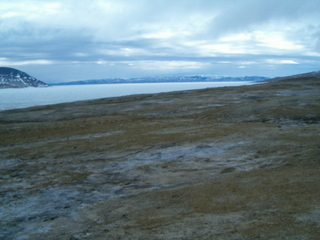 #1: Looking west along Slidre Fiord towards Axel Heiberg Island