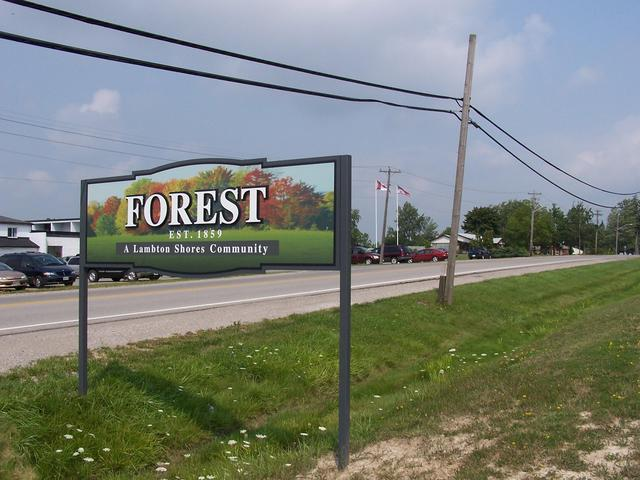 Forest welcome sign.