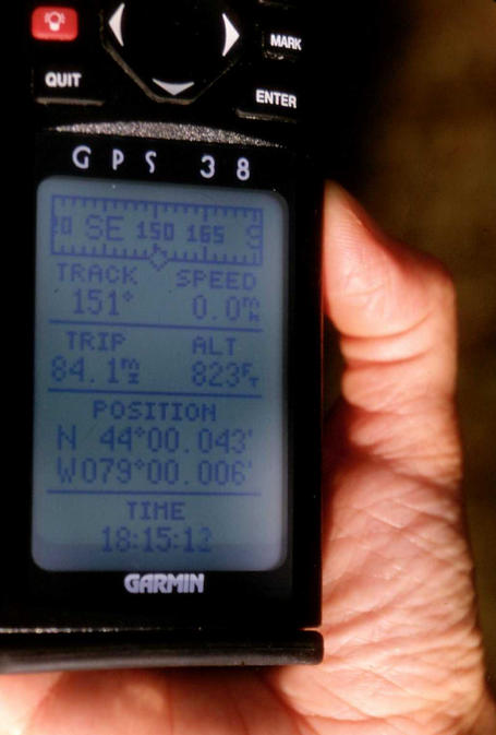 The GPS reading.