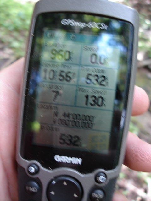 More GPS Info Note Elevation 960 ft