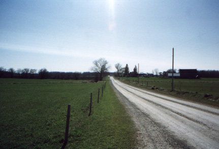 A dirt road in the Hanover countryside