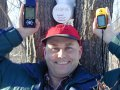 #5: Steve with both GPS's and geocache