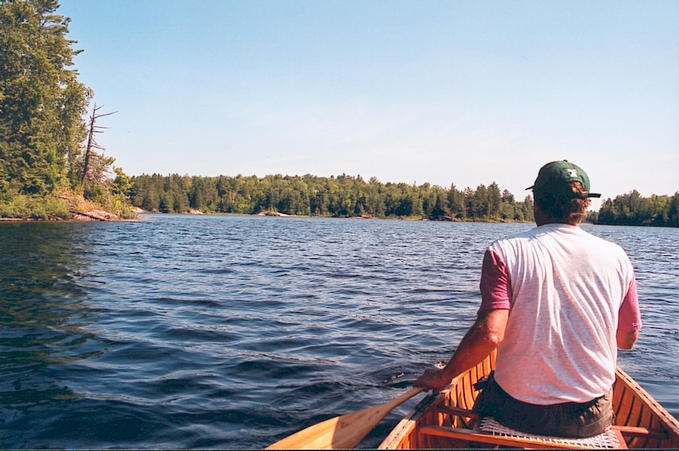 Paddling towards Burnt Island.