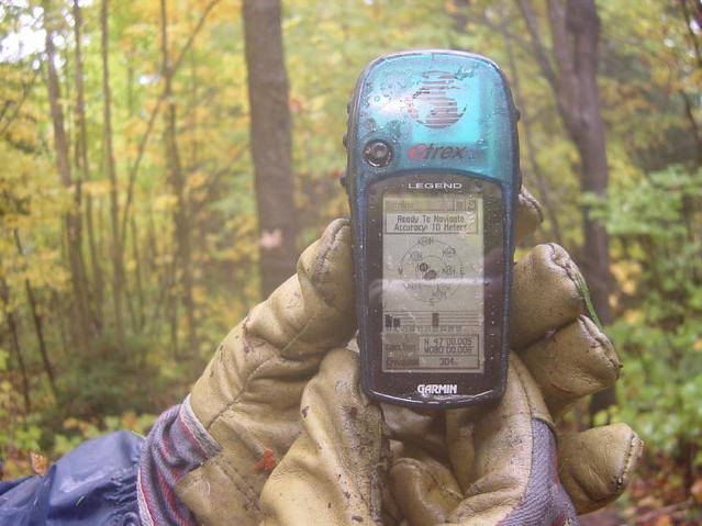 Picture of the GPS while at the confluence