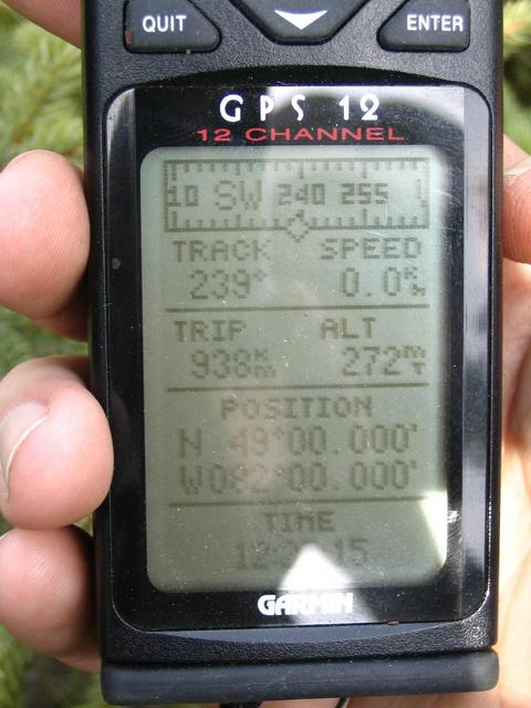 GPS readings at CP