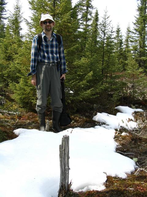 Yury near a snow patch