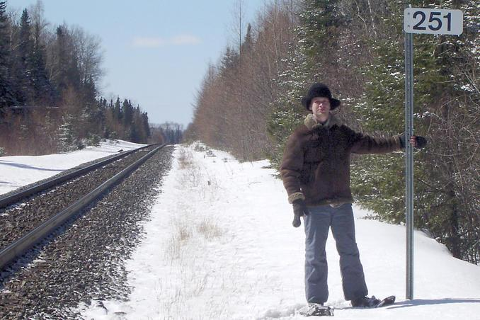 Kirill at railroad