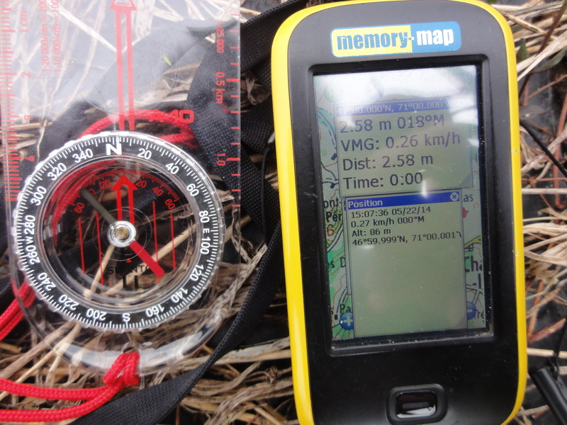 GPS receiver screen