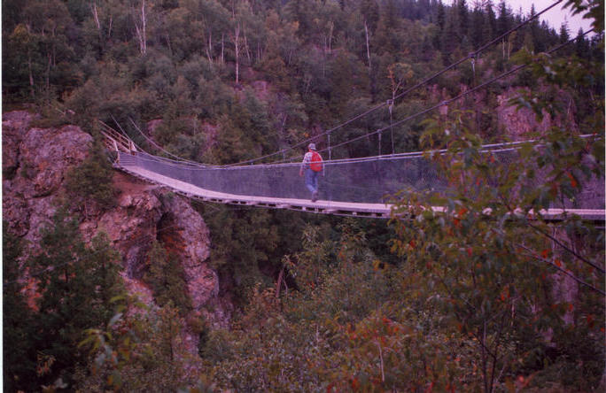 Suspended bridge near N48W79