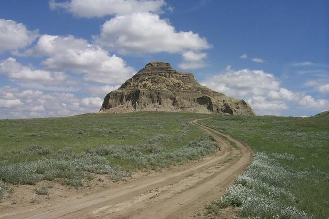 Castle Butte - about 12 km north of Big Beaver.