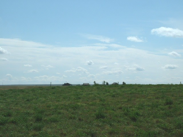 Looking South from the confluence (farm on U.S. side of border).
