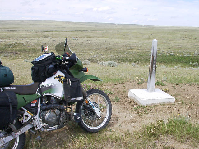 Border marker looking NE