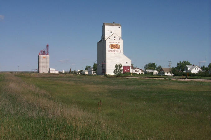 Hodgeville grain elevators ... the old and the new.