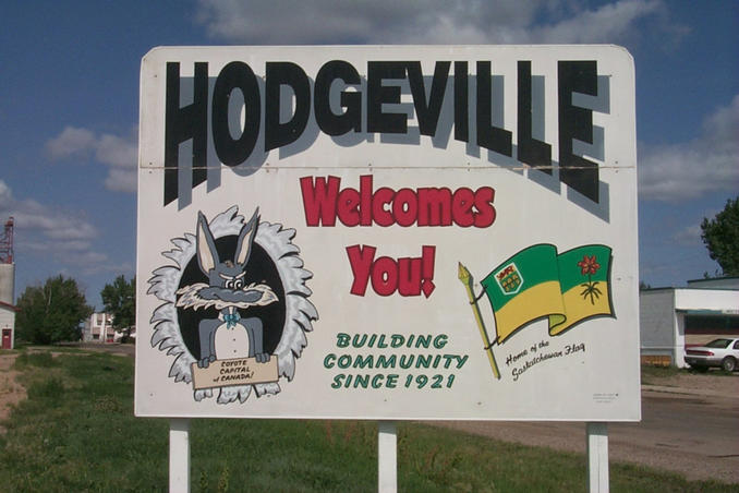 "Hodgeville: ""Coyote Capital of Canada"" and ""Home of the Saskatchewan Flag"""