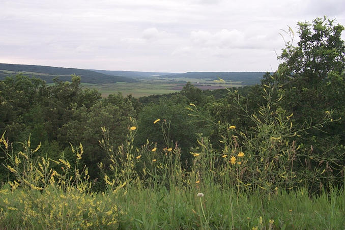 View of the Qu'Appelle Valley on the way to the confluence.