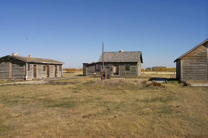 Last Mountain House - a reconstruction of an 1869 fur trading post.