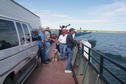 #6: Crossing Lake Diefenbaker on the ferry with a huge transport truck blocking a good view.
