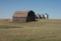 #8: An old barn and grain bins in the area.