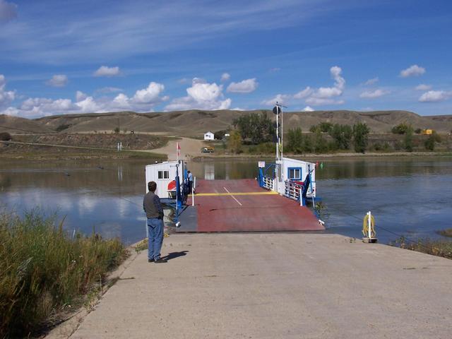 Lemsford Ferry on South Saskatchewan River.