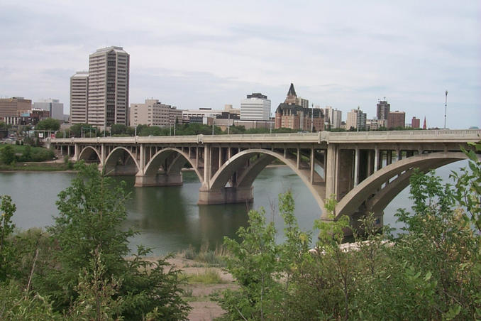 On our way we passed through Saskatoon, the city of bridges.
