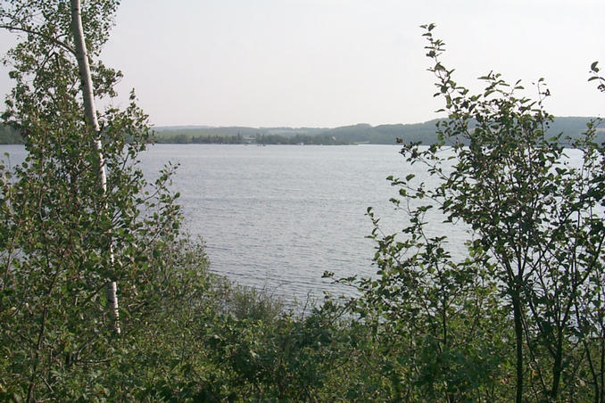 Looking south at Martin's Lake.  The confluence lies about 190 m away from this point.